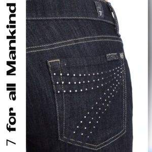 7 for all Mankind Dojo Rhinestone Pockets Jeans